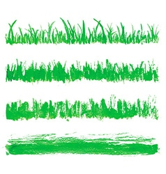 Hand drawn watercolor grass set vector image