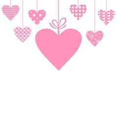heart hang vector image