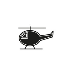 helicopter icon copter helicopter airline vector image
