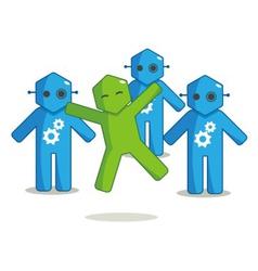 Hexagon Man - Different vector image