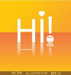 HI icon symbol Flat modern web design with vector image