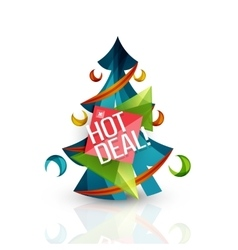 Hot deal sale promotion tags badges for Christmas vector image