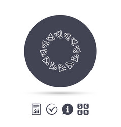 Jewelry sign icon diamonds circle symbol vector