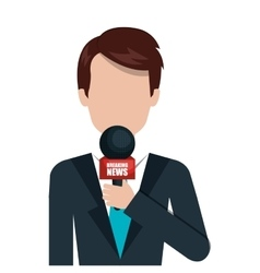 Journalism and news graphic design vector