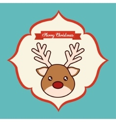 Kawaii reindeer of Christmas season vector