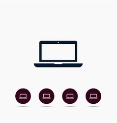 laptop icon simple sign vector image
