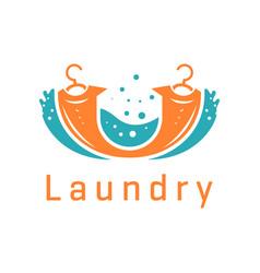 Laundry logo design vector
