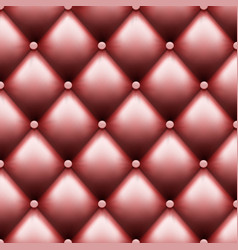 Leather upholstery with buttons luxury background vector