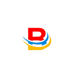 Letter b swoosh logo vector