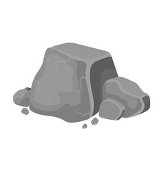 metal ore icon in monochrome style isolated on vector image