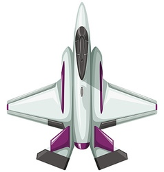 Modern design of fighting jet vector image
