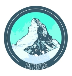 Mountain Matterhorn vector
