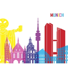 Munich skyline pop vector image