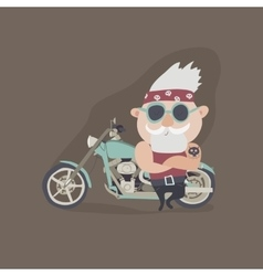 my grandfather forever young biker vector image