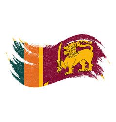 national flag of sri lanka designed using brush vector image