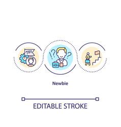 Newbie concept icon vector