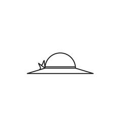 pamela hat icon vector image