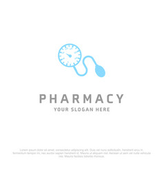 pharmacy logo with creative design with white vector image