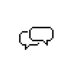 pixel style text chat speech bubbles icon vector image