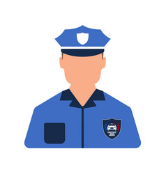 police worker icon man worker cartoon style vector image