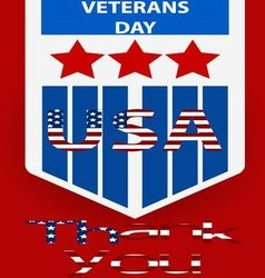 Poster of Veterans Day concept vector image