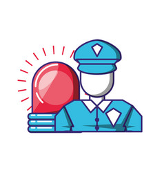 Security agent with alarm light vector