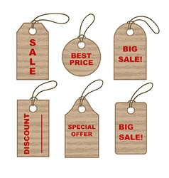 Set of cardboard tags vector