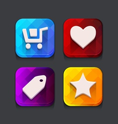 Shopping web icons collection vector image