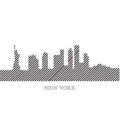 skyline of new york vector image