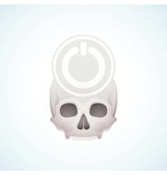 turn off skull vector image