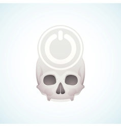 Turn off the skull vector