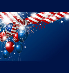 Usa 4th july happy independence day design vector
