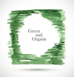Watercolor green frame vector