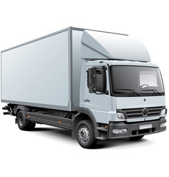 White box truck vector