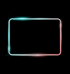 White colorful neon shiny glowing vintage frame vector