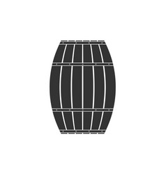 wooden barrel icon isolated alcohol barrel drink vector image