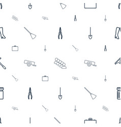 Work icons pattern seamless white background vector