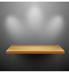 3d isolated empty shelf for exhibit vector image