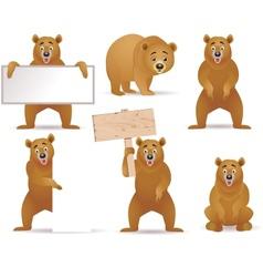bear cartoon collection vector image