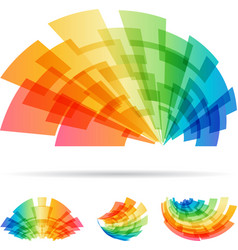 Colorful set abstract element isolated on white vector