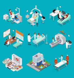 doctor and symbol of medicine design element set vector image