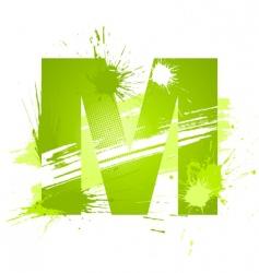 font letter m vector image vector image