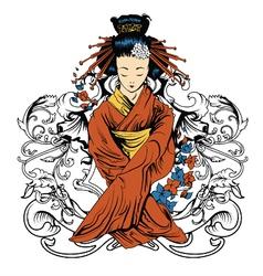 japanese tshirt design vector image