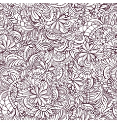 seamless abstract flowers pattern vector image