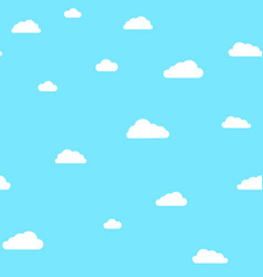 cute clouds on blue sky pattern vector image vector image