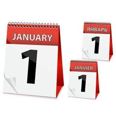 icon calendar New Year vector image vector image
