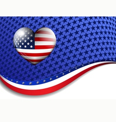 Stars Stripes Background vector image vector image