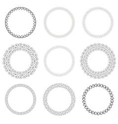 Vintage Drawn Frame Set vector image