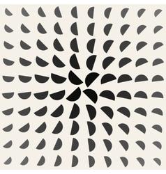 Black and white half circle geometric vector