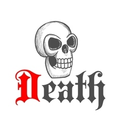 Gothic skull icon for Halloween mascot design vector image